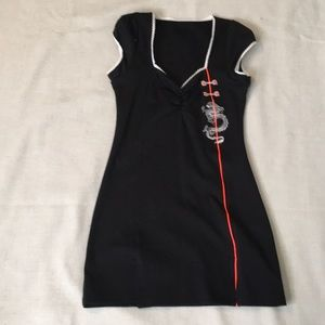 Dolls Kill Gang Young black minidress XS